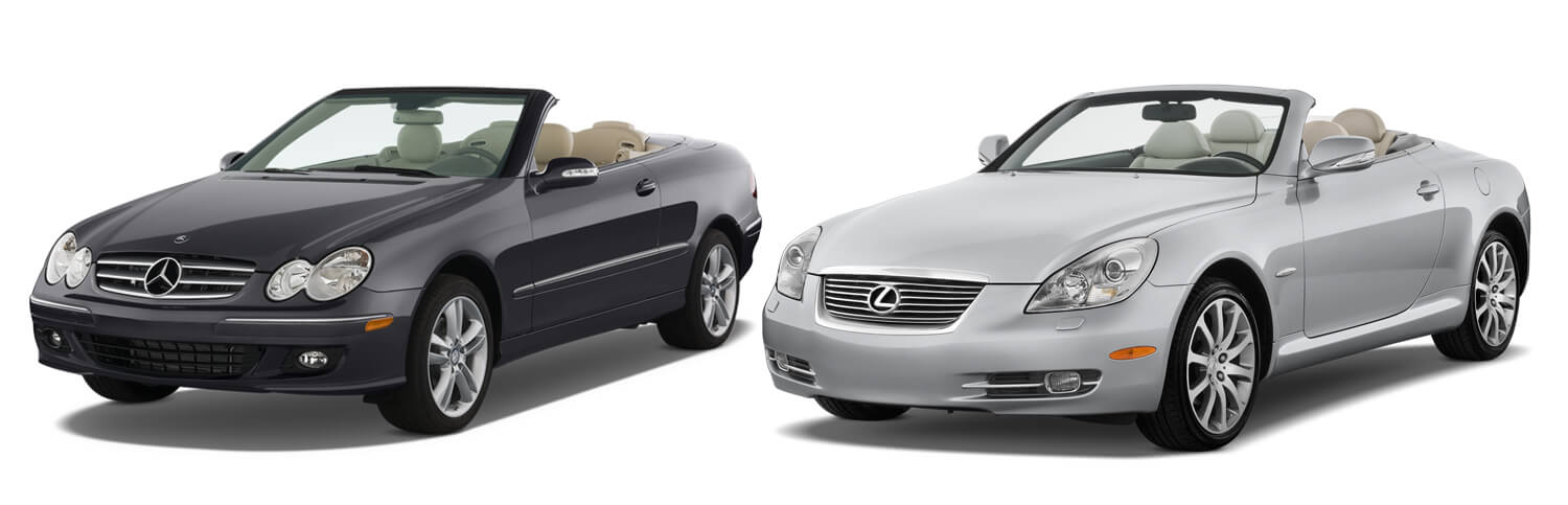 Lexus SC 430 and Mercedes Benz CLK 430